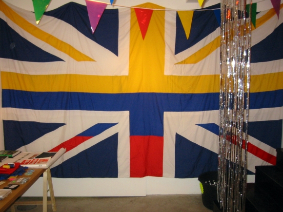 Carolina Caycedo - UK/Colombian Flag