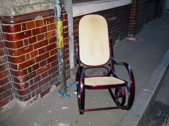 B-Lo ― Rocking Chair Attached To Pole (2002)