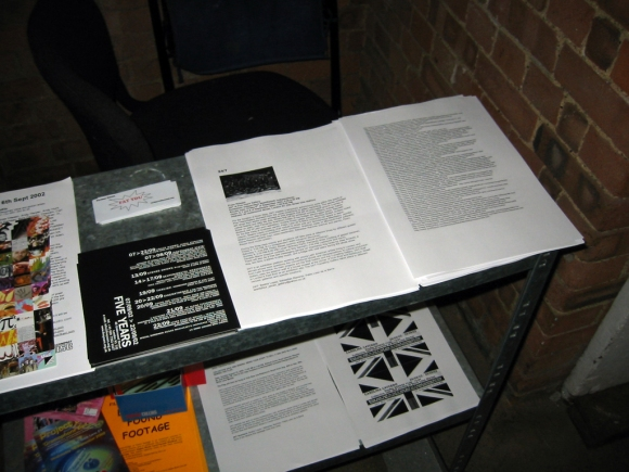 flyer (left), press release (centre), Kenneth Bostock ― List Of Latin Porn Sites (2002) (right)