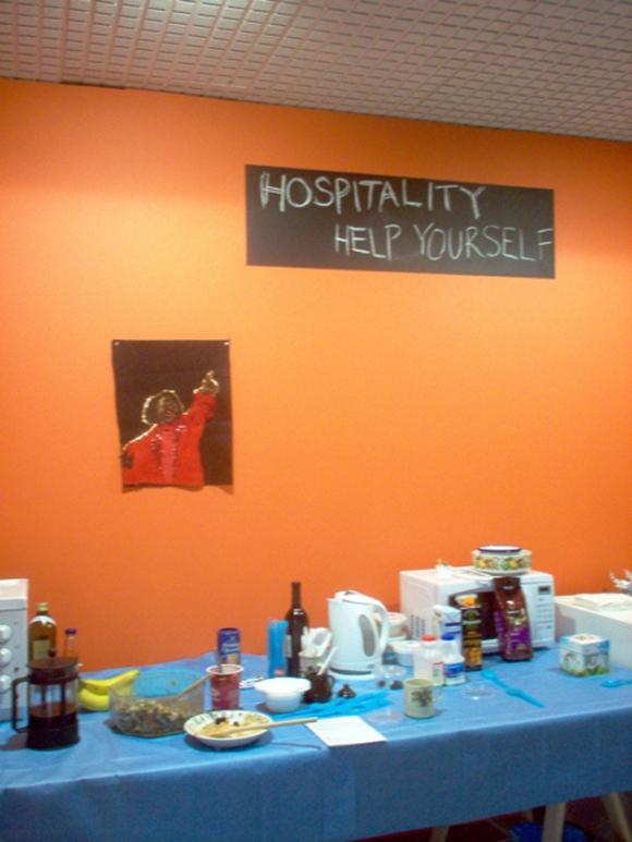 Hospitality area