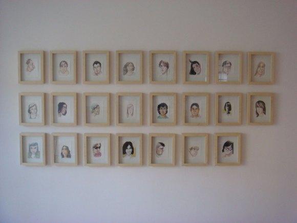Camilo Aguirre — Sin Titulo (retratos basados en facebook) (2012)