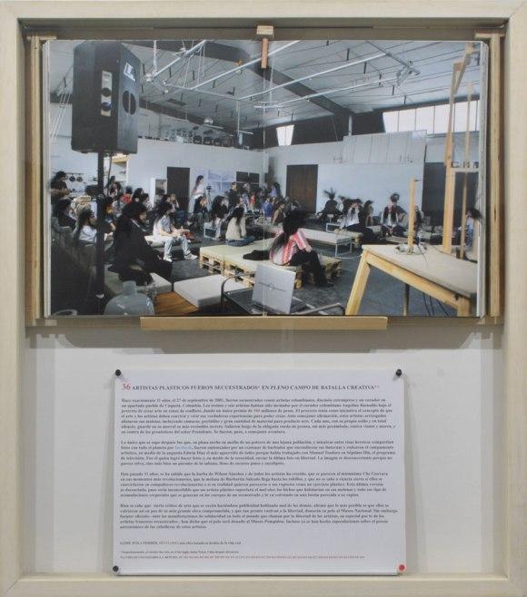 Jaime Avila Ferrer — 36 Artistas Plasticos Fueron Secuestrados en Pleno Campo de Batalla (2011)